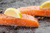 Raw salmon — Stock Photo