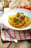 New York meatballs pasta — Foto Stock