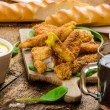 Corn crusted Chicken Tenders — Stock Photo #57557395