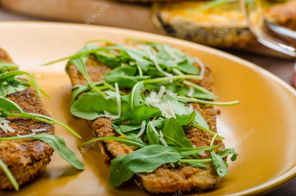 ... parmesan arugula salmon salad with capers and shaved parmesan photo