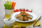 Crispy chicken wings — Stockfoto