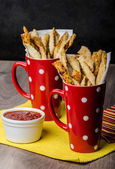 Party sticks from puff pastry — Stock Photo