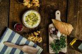 Baked Camembert with Garlic & Rosemary — ストック写真