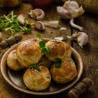 Cheese mini buns from domestic dough — Stock Photo #64480149