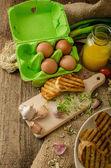 Scrambled eggs, creamy and fluffy — Stock Photo