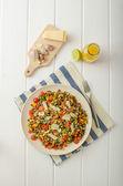 Warm salad of lentils, bio healthy — Stock Photo