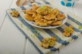 Savory puff pastry — Stock Photo