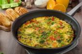 Vegetarian frittata — Stock Photo