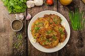 Fried potato pancakes — Stock Photo