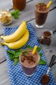 Schokolade-Banane smoothieшоколад Банан льстец — Stockfoto