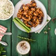 Barbecue grilled chicken wing — Stock Photo #79772466