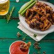 Barbecue grilled chicken wing — Stock Photo #79774760