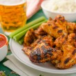 Barbecue grilled chicken wing — Stock Photo #79993638