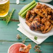 Barbecue grilled chicken wing — Stock Photo #79998644
