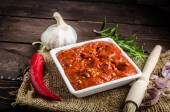 Very spicy tomato sauce for grill — Stock Photo