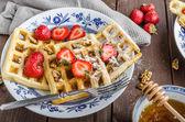 Belgian breakfast — Stock Photo