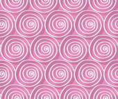 Circles and swirls vintage seamless pattern — Stock Vector
