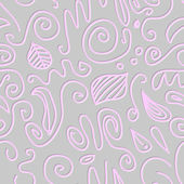 Circles and swirls seamless pattern — Stockvektor