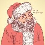 Sketch Santa Claus in vintage style — Stock Vector #57990503