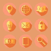 Flat business icons — Stockvektor
