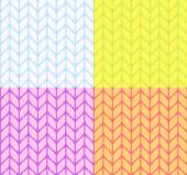 Flat knitting seamless pattern — Stockvektor