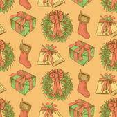 Sketch Christmas set in vintage style — Stockvector
