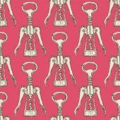 Sketch cute corkscrew in vintage style — Vector de stock