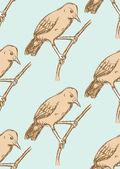 Sketch rufous hornero bird in vintage style — Stock Vector