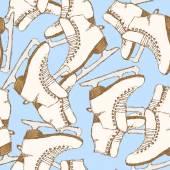 Sketch skating shoes in vintage style — Vector de stock