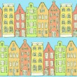 Sketch Amsterdam houses in vintage style — Stock Vector #73657759