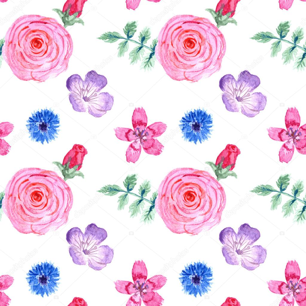 复古风格的水彩花 — 图库矢量图像08