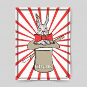Эскиз кролик в шляпе в винтажном стиле — Cтоковый вектор