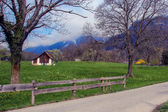 Swiss mountain country side — Stock Photo