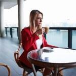 Attractive businesswoman on a coffee break — Stock Photo #73328305