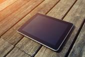 Black digital tablet with blank screen — Stock Photo