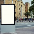 Blank billboard with copy space on sunny day — Stock Photo #74412571
