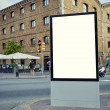 Blank billboard with copy space on sunny day — Stock Photo #74412591