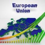 European countries 3d illustration — Stock Photo