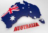 Illustration of Australia — Stock fotografie