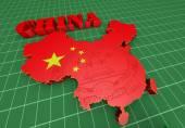 Illustratuin mapa číny — Stock fotografie