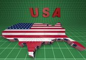 U.S.A. mapped flag in 3D illustration . — Stock Photo