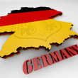 Map of Germany with flag — Stock Photo #52979705