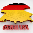 Map of Germany with flag — Stock Photo #52979789