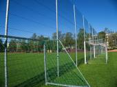 Goal net on football stadium — Stock Photo