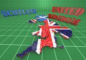 Map illustration of Scotland and England — Stock Photo