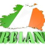 Map illustration of Ireland with flag — Stock Photo #53855781
