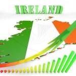Map illustration of Ireland with flag — Stock Photo #53855799