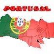 Map illustration of Portugal with map — Stock Photo #53935833