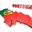 Map illustration of Portugal with map — Stock Photo #53935841