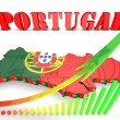 Map illustration of Portugal with map — Stock Photo #53935845